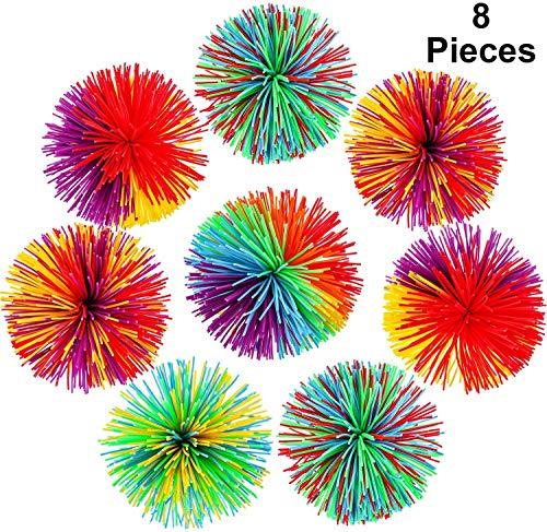 WENTS Anti Stress Spielzeug Set Sensory Toys für Stressabbau und Anti-Angst für Kinder und Erwachsene Weiche Regenbogen Pom Bouncy Stress Balls mit Aufbewahrungstasche, Mehrfarbig 6 pcs