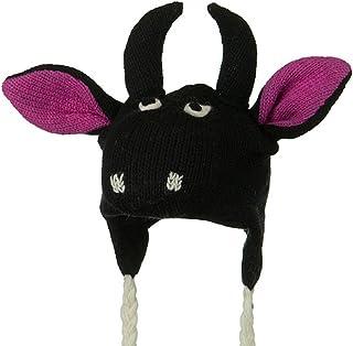 Toddler Animal Wool Ski Hat - Bull