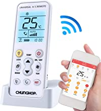 CHUNGHOP Smart Air Conditioner Remote Control K-390EW WiFi APP Universal Fit for iOS and Android for LG TCL Toshiba Panasonic York Fujitsu Chigo Gree Carrier.NO Window A/C