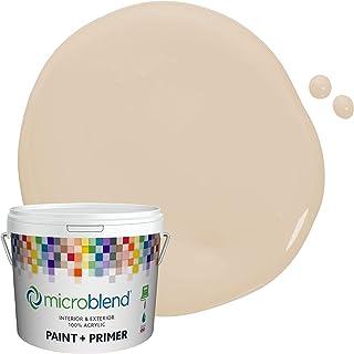 Microblend Interior Paint and Primer - Beige/Cozy Cream, Sample, Premium Quality, One Coat Hide, Low VOC, Washable, Microb...