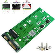 QNINE M.2 to SATA Adapter Card, NGFF SSD Converter to 2.5 or 3.5 Inch SATA3.0 for Laptop or Desktop, Support B or M Key SATA Based Solid State Hard Drive Model 2230 2242 2260 2280