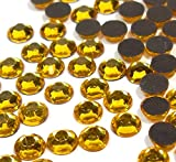 Perlin - Hotfix Strasssteine, 14400stk, Gold, Topas, 3mm