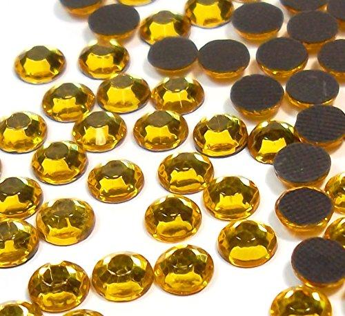 Perlin - Hotfix Strasssteine, 14400stk, Gold, Topas, 3mm SS10 AAA Qualität, 100 Gross, zum Aufbügeln, Hotglue, Glitzersteine Rhinestone Großhandel Glass Strass Perlen 408 x2