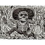 Guadalupe Calavera Skull from Oaxaca Mexico Art Print