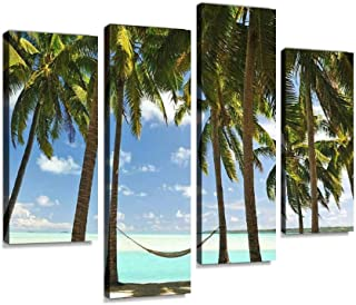 Paradise Destination Canvas Print Artwork Wall Art Pictures Framed Digital Print Abstract Painting Room Home Office Decor ...