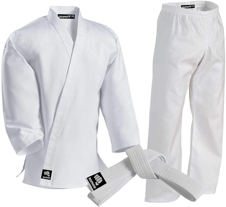 Zephyr Martial Arts Karate Gi Student Uniform  White Belt