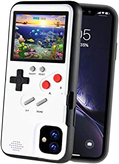 POKPOW Handheld Game Console Phone Case for iPhone 11 Pro Case with Buit in 36 Retro Games Compatible with iPhone 11 Pro Anti-Scratch Shock Absorption Cover (Pro White)