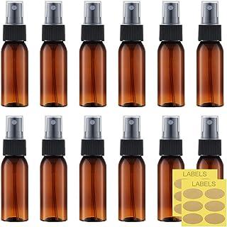 Toureal 30ml Ámbar Botellas Spray Pulverizador Plastico (12 Piezas) Botes Spray Vacios Envase Atomizador Perfume