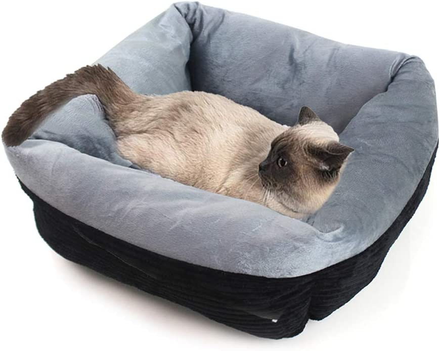 ForHe Our shop most popular Philadelphia Mall Corduroy Cats Puppies Square Cushion Warmin Sofa Soft Bed