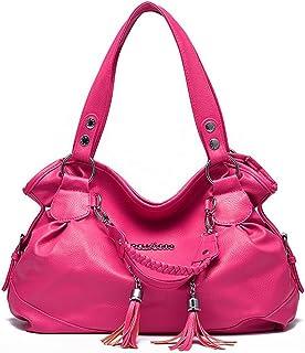 Fanspack Shoulder Bag Handbag Slouchy Tassel Casual Tote Bag Crossbody Purse Satchel Bag