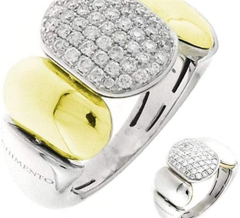 Chimento,anello per donna in oro giallo e bianco e diamanti 1A04718B12140.1-14