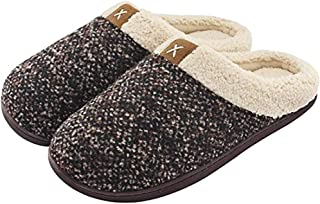 XYIYI Womens Cozy Memory Foam Slippers Mens Fuzzy Plush Fleece Lined House Shoes