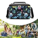 ZXZXZX Mini Bolsa Isotérmica de Almuerzo 4.8 L Bolso de Picnic Bandolera Plegable Lunch Bag Bolsa Térmica Porta Alimentos Frio Calor Comida Tela Impermeable Ajustable para Trabajo Viaje