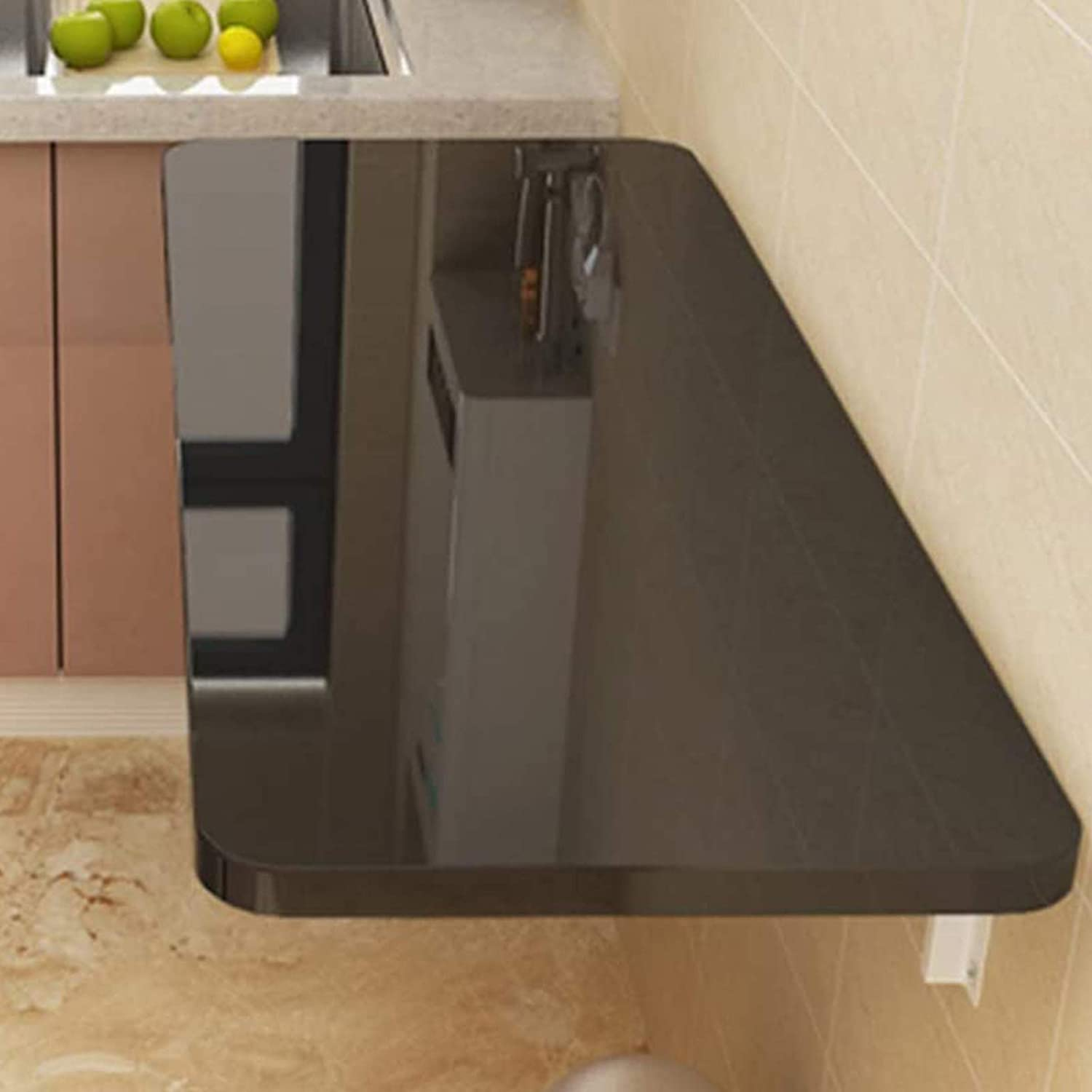 Fold Down Table Wall Mounted Folding Wood Ta Finally resale start Excellence Wall-Mounted Solid
