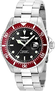 Men's Pro Diver Quartz Diving Watch with Stainless-Steel Strap, Silver, 21 (Model: 22020)