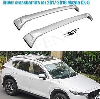 LAFENG Barra Transversal Plateada para Mazda CX-5 2017-2019, 2 Unidades,