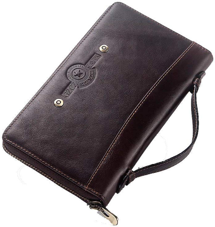 LMSHM Lange Brieftasche Für Herren Große Kapazität Leder Lange Männer Männer Männer Geldbörse Clutch Wallet Handy Und Handy,A,21  12  2,5 cm B07MB99HPC b1f163