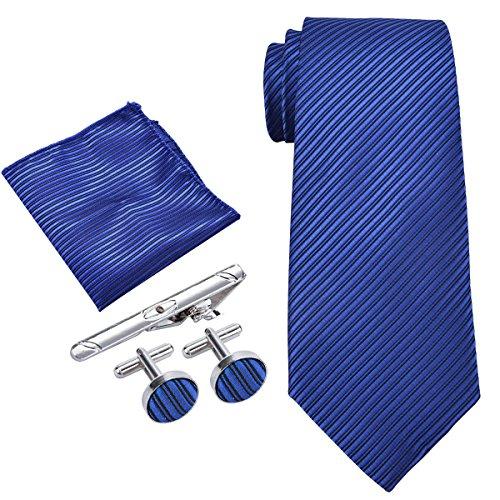 Cravatta Uomo, Coxeer Cravatta Uomo Elegante Set 5 in 1 Uomo Cravatta Ferma Cravatta Uomo Gemelli Uomo Cravatta Fazzoletto Uomo Paisley Confezione Come Regalo di Compleanno per lui