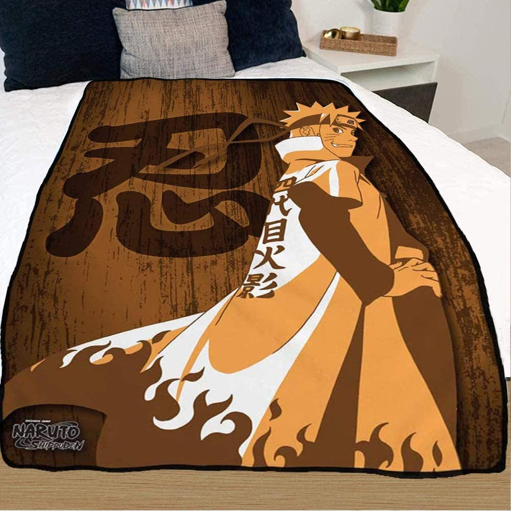 JUST Direct stock discount FUNKY Naruto Shippuden Bed unisex Blanket 45 60 inches x Brown