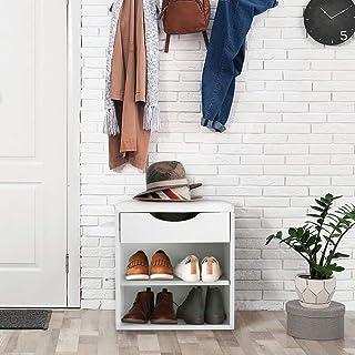 Banc à Chaussures Entrée Banc de rangement pour chaussures Meuble à Chaussures Commode à Chaussures Tabouret de maquillage...
