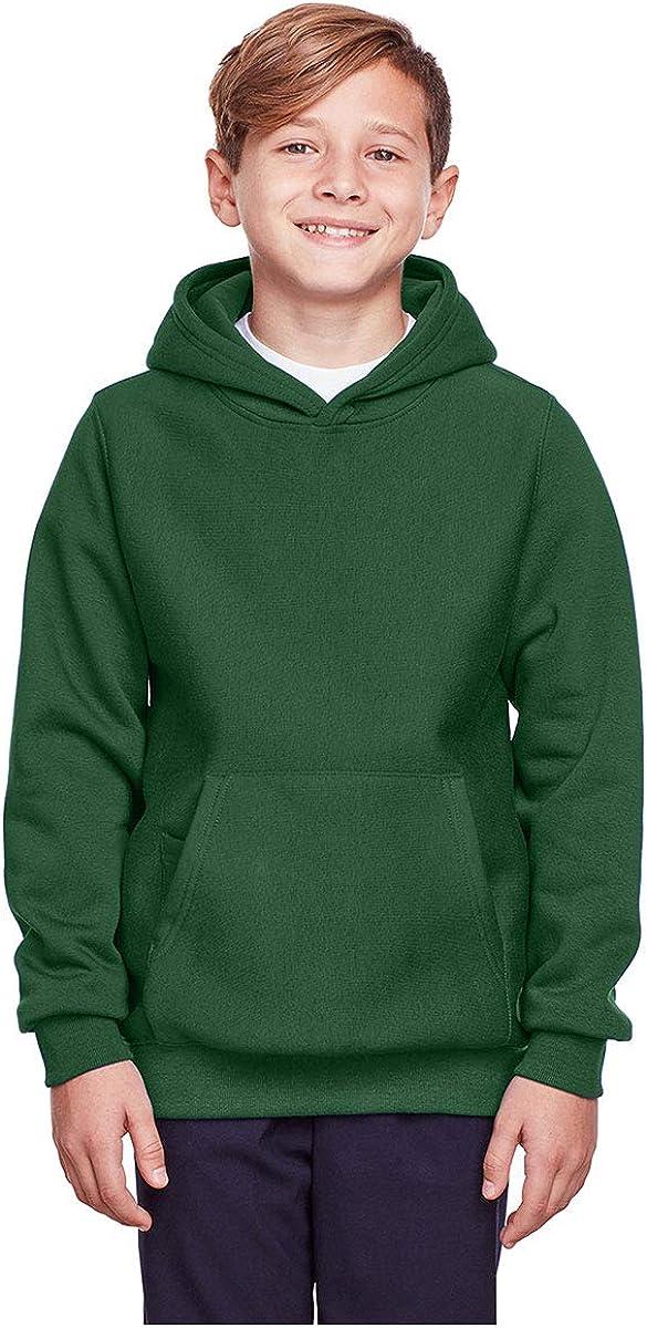 TEAM 365 Youth Heavyweight Pullover Hooded Sweatshirt