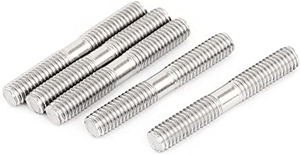 uxcell M6x40mm 304 Stainless Steel Double End Threaded Stud Screw Bolt 5Pcs