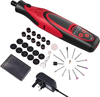 Sponsored Ad – Rotary Tool, 7.4V Mini Cordless Multitool with 38 Accessories, 5 Variable Speed 5000-25000 RPM, 4 LED Light...