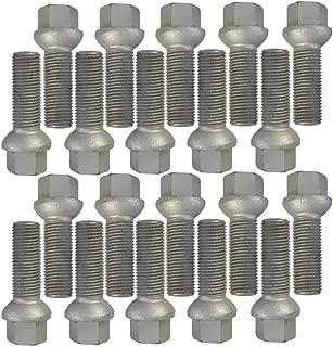 Boulons de Roue 24mm Choix de Longueur Compatible avec Alfa Romeo Citroen Fiat Peugeot Lot de 16 boulons de Roue M12x1,25 SW17