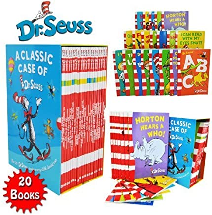 Dr Seuss Classic 20 Books Gift Set (Kids Wonderful World Read at Home Collection) Titles include - The Cat in the Hat, Green Eggs and Ham, Oh The Places youll Go, One Fish Two Fish Red Fish Blue Fish, Hop on Pop, Dr. Seuss ABC, Ten Apples Up On Top and More. (Dr Seuss) by Dr Seuss (January 19,2013)