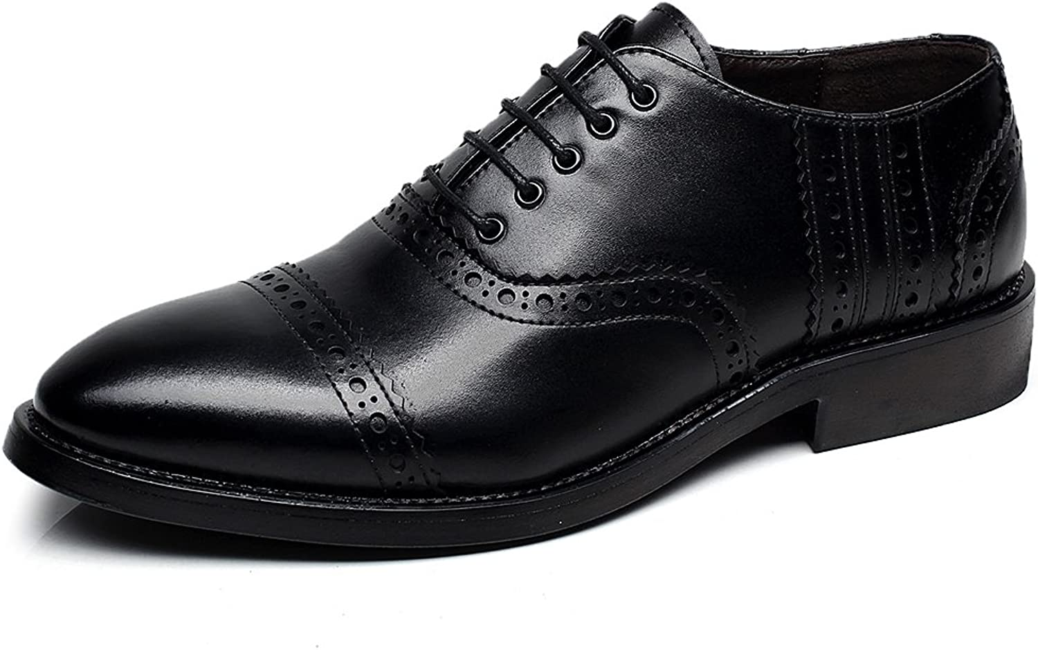 Rismart Men's Fashion Pointed-Toe Dress Leather shoes Classic Business Oxfords