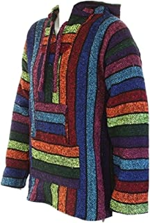 Jerga Baja diseño de Estilo Mejicano de Flores de Shade Tree Jersey M Hippy Sudadera con Capucha Festival Colores Variados XL de Arco Iris L Unisex