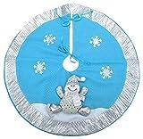 Christmas Concepts 21 pulgadas azul y plata falda de árbol de Navidad con muñeco de nieve 3D...