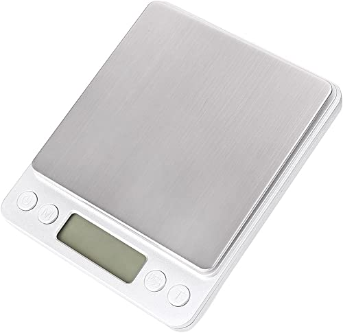 discount Mallofusa Electronic Digital Kitchen outlet online sale Scale lowest Multifunction Food Scale, 2kg, 0.1g, Silver sale