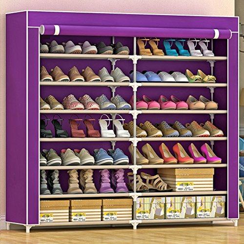 WXQIANG Zapatero Estante Soporte de Almacenamiento a Prueba de Polvo con la Cremallera de Alta Capacidad, 42 Pares de Zapatos, 4 Colores, 120 * 30 * 125cm (Color : C, Size : C)