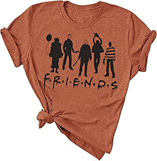 MUPAOLO - Camiseta de Halloween Hocus Pocus para mujer divertida Sanderson Sisters Graphic Tees Camisetas otoño Halloween película camiseta Tops