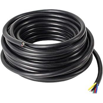 AUPROTEC 5 10 20 ou 50 m Isolant Electrique PVC Gaine Isolante Protection des C/âbles choix: /Ø int. 24 mm, 50m m/ètre