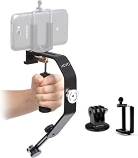 Movo Handheld Video Stabilizer System for GoPro Hero, HERO2, HERO3, HERO4, HERO5 AMD Apple iPhone 4, 4S, 5, 5S, 6, 6S, 7, ...