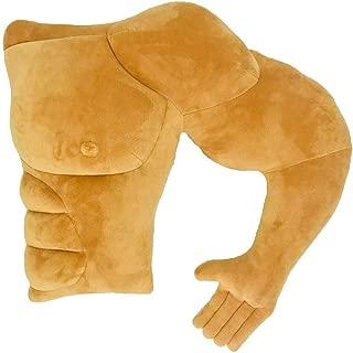Giliguala Boyfriend Husband Cuddle Buddy Pillow Muscle Man Body Arm Pillows Joke Toy Gag Gift for Companion Birthday Valentine's Day (Left)