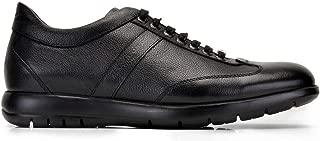 2929-ROCK EXL-SIYAH ANTIK NV BASKI Nevzat Onay Bağcıklı Siyah Günlük Deri Erkek Ayakkabı