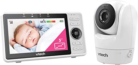 VTech RM5762 Wi-Fi 1080p HD Pan & Tilt Video Monitor with Remote Access, White,
