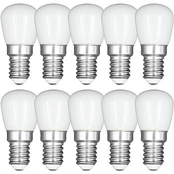 3W E14 LED Frigorífico Congelador Bombillas Pack de 10 Blanco Frío 6000K, equivalente a 40W, para nevera, máquina de coser, lámpara de escritorio: Amazon.es: Iluminación