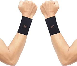 Thx4 Copper Compression Wrist Sleeve-Copper Infused Wrist Support for Men &Women-Improve Circulation and Recovery(1 Pair)