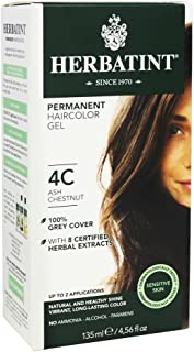 Permanent Herbal Haircolor Gel; 4C Ash Chestnut
