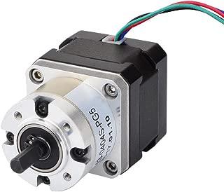 STEPPERONLINE 5:1 Planetary Gearbox Nema 17 Stepper Motor 0.4A for DIY CNC Robot 3D Printer