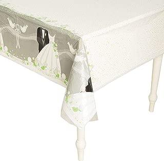 Silver Wedding Plastic Tablecloth, 84