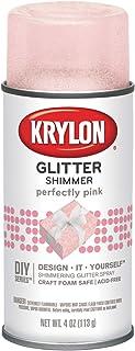 Krylon I00409000 Perfectly Pink Glitter Shimmer Spray, 4 Ounces