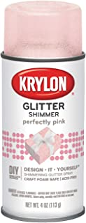 Krylon I00409000 Perfectly Pink Glitter Shimmer Spray, 4 Ounces
