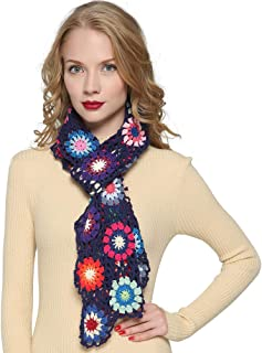 ZORJAR Scarfs for Women Winter Fashion Scarves Knitted shawls and wraps Colorful Flower