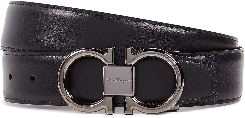 Max 84% OFF Salvatore Ferragamo Men's Double Reversible Belt Free shipping / New Gancio