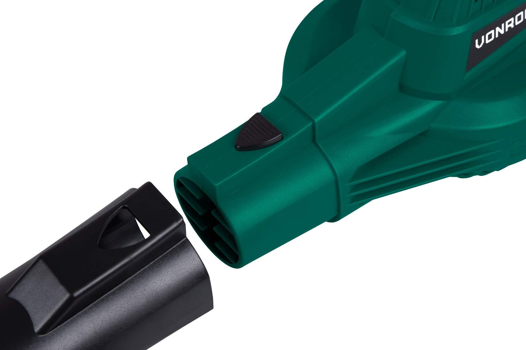 Soplador de hojas inalámbrico VONROC VPower 20V, incl. 1x 2.0Ah ...